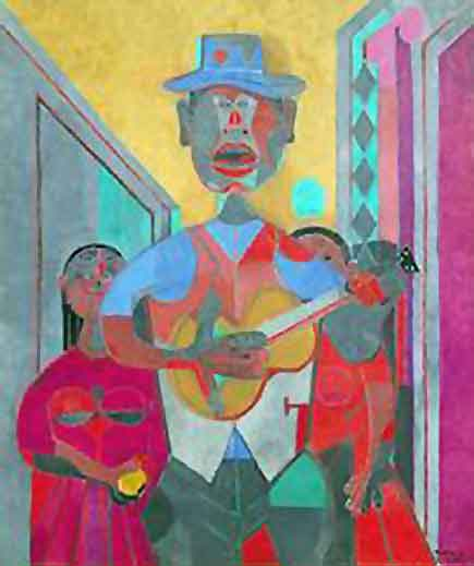 el trovador, by mexican artist Rufino Tamayo