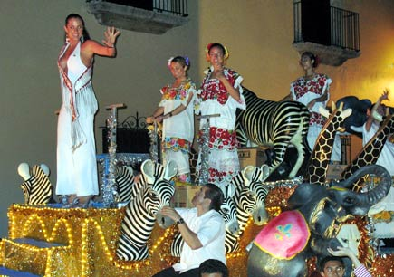 a float at carnival in merida