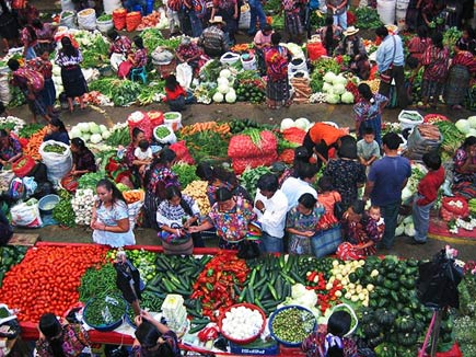 vegetable market in chichicastenango