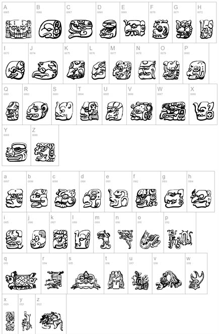 I want to get a Mayan font form tattoo of my name done on either under my