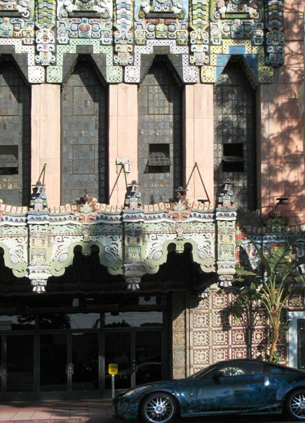 mayan theater, los angeles facade