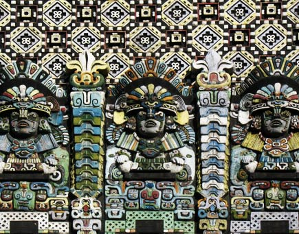 mayan theater, los angeles -- detail of facade