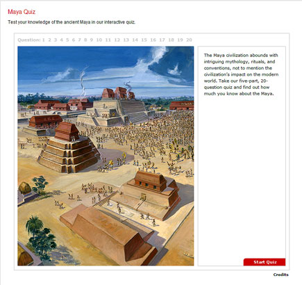 national geographic quiz on maya