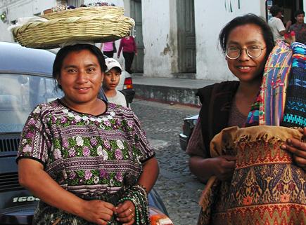 street vendors, antigua
