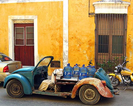 water delivery vehicle in yucatan