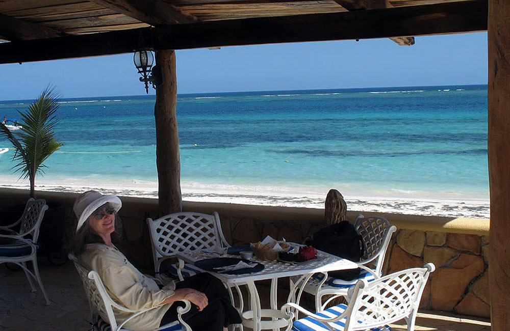 Lunch with Carol at Puerto Morelos