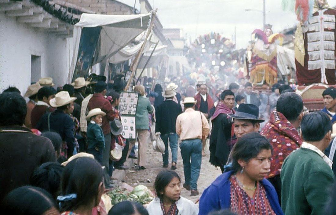 Festival, Chichicastenango, Guatemala, 1975