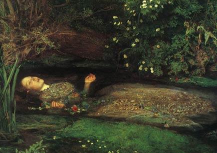 millais, ophelia, 1852