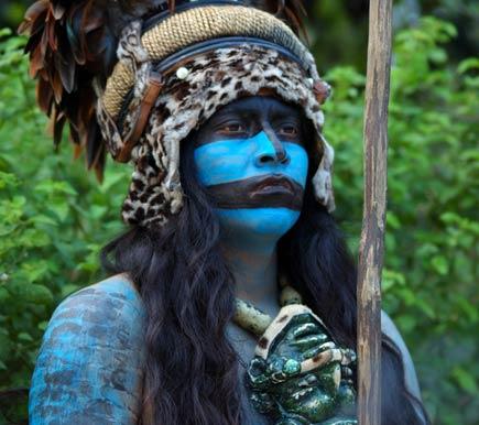 blue maya warrior