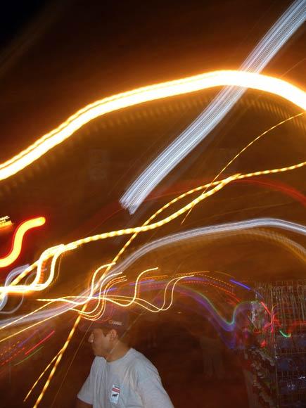 carnival lights, merida, yucatan
