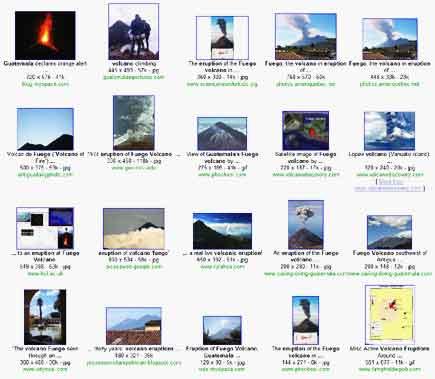 fuego volcano eruption