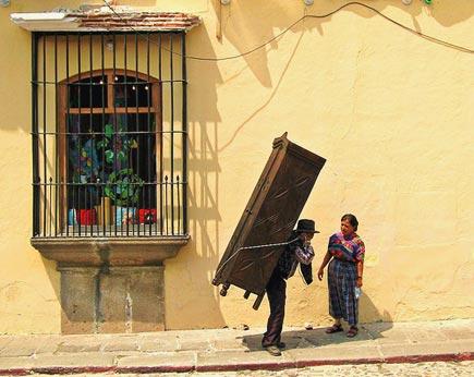 antigua, guatemala, street scene