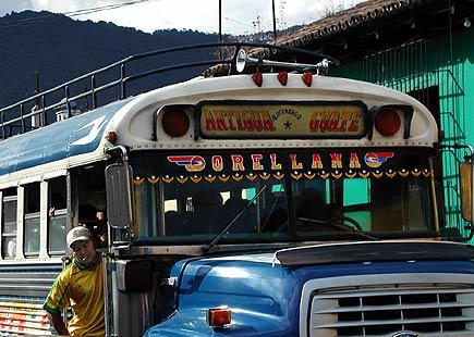 chicken bus in antigua
