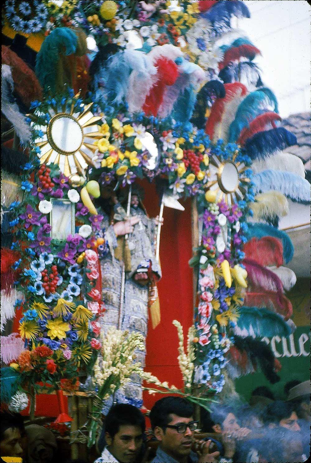 A festival in Chichicastenango, 1974, prob. Dec.